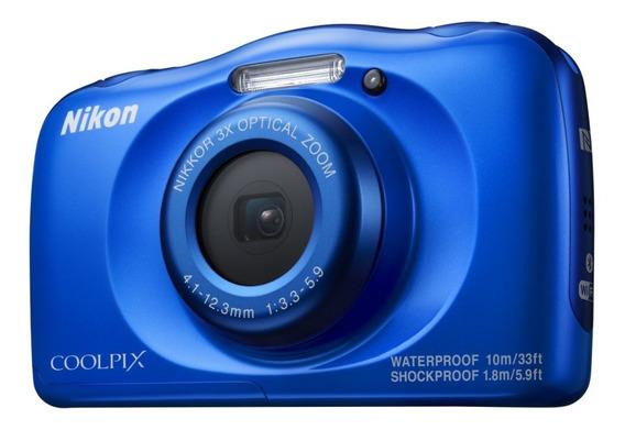 Camera Nikon Coolpix W150 Azul À Prova D