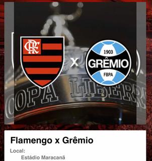 Ingresso Flamengo X Grêmio