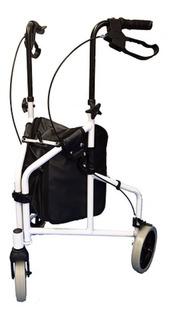 Andador 3 Rodas Branco Idoso, Adulto 100 Kgs - Inspire