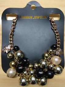 Fashion Colar Aço Dourado