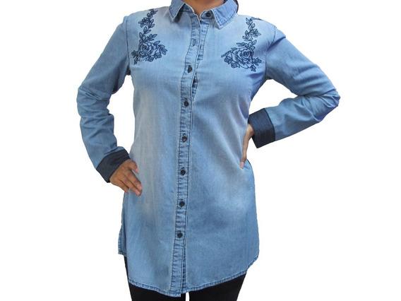 Camisa De Dama -tipo Jeans - Cat - M2610243-s