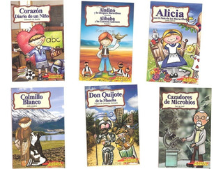 Paquete 8 Libros Cuentos Clásicos Infantiles Niños Primaria