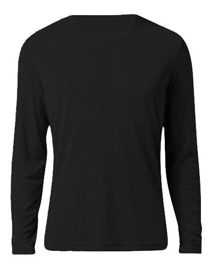 Camiseta Proteção Solar Tecido Helanca Uv Segunda Pele Preto