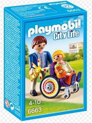 Niño En Silla De Ruedas -playmobil