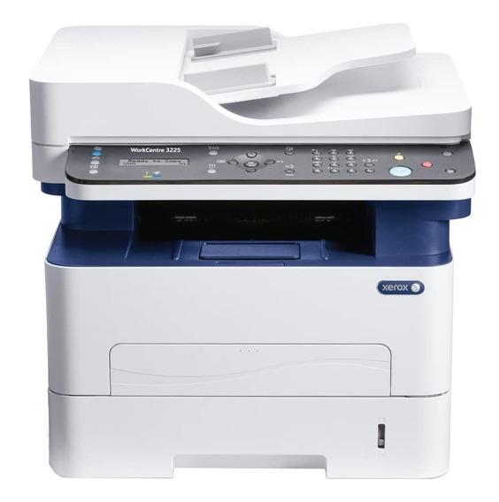 Impressora multifuncional Xerox WorkCentre 3225/DNI com wifi 110V - 127V branca e azul