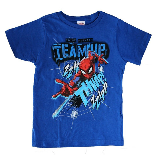 Playera Para Niños Modelo Spiderman Crime Fighter De Marvel
