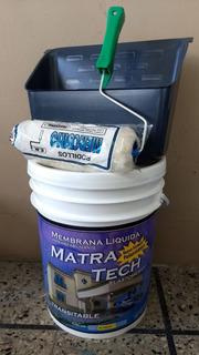 Combo Techos Membrana Liquida Matra+rodillo+bandeja Kit