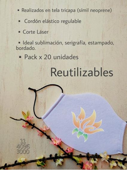 Tapabocas Simil Neoprene P/sublim - Pack20 Unids - Ituzaingó