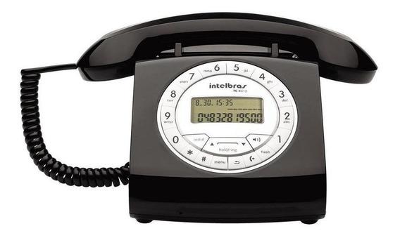 Telefone fixo Intelbras TC 8312 preto