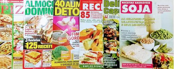 Combo 07 Revistas De Receitas De Culinária