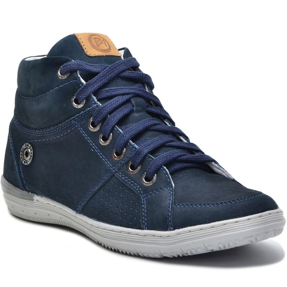 Sapato Sapatênis Botinha Masculino Casual Bmbrasil 863 Azul