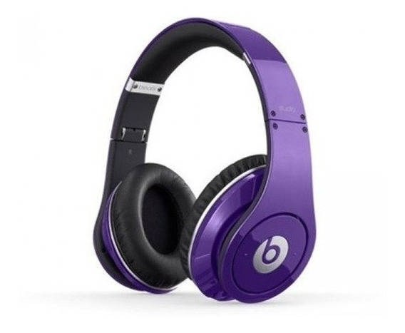 Beats By Dr.dre Studio Wired Headphones Purple Over The Head