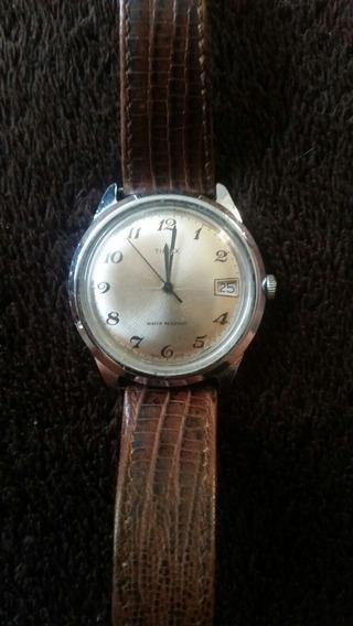Reloj De Cuerda, De Uso Vintage Marca Timex Correa De Piel