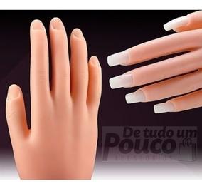 Mão Para Treino Manicure Silicone Unhas Gel Dedo Oferta