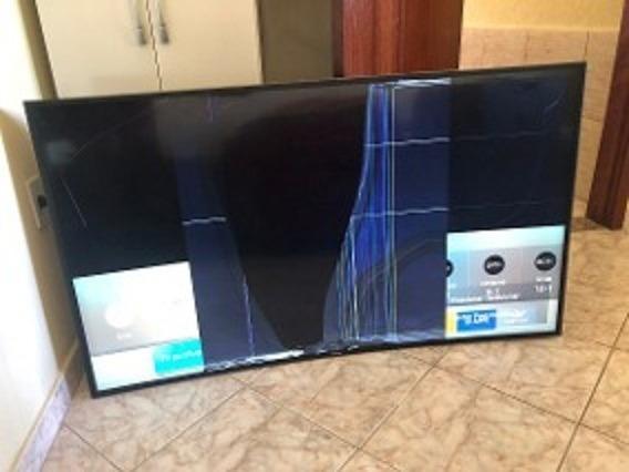 Smart Tv Samsung Un50hu7000 Com Tela Quebrada