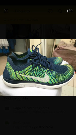 Nike Free Rn Flinknit Talle 9,5 (us) Excelentes