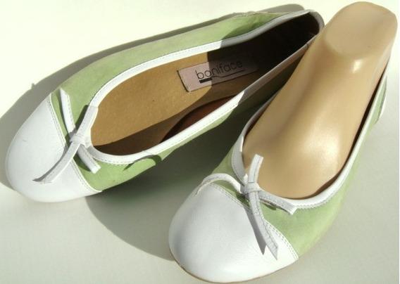 Zapatos Chatitas 36 Marca Boniface Verde Y Blanco (ana.mar)