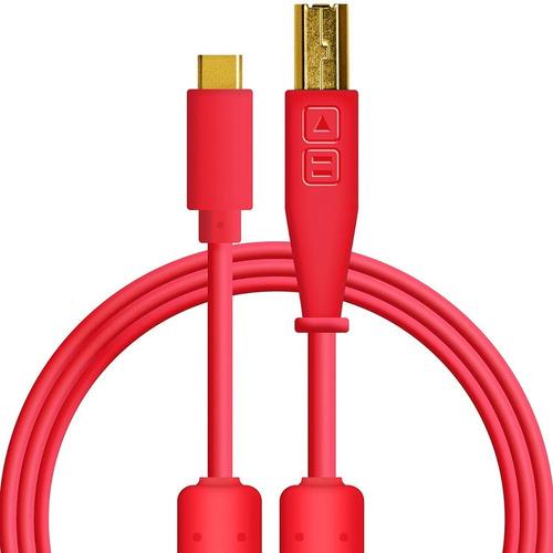 Chroma Cable Usb Tipo C De Alta Calidad Rojo / Dj Producción