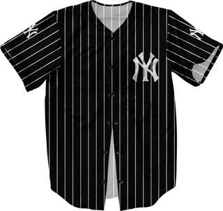 Camisa Botão Jersey Baseball New York Liga Americana