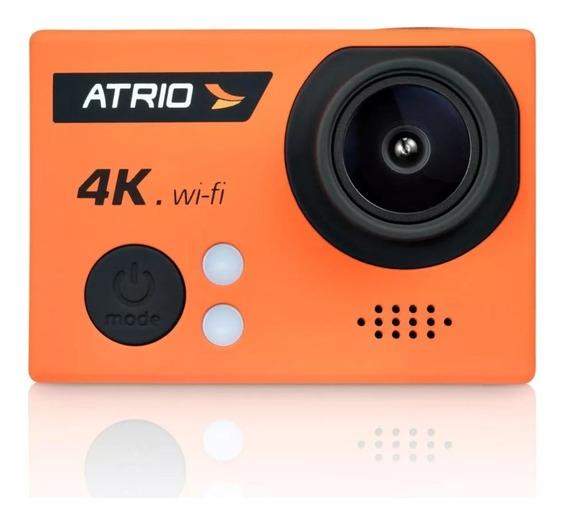 Câmera Filmadora Atrio 4k Esportiva Portátil Laranja - Dc185