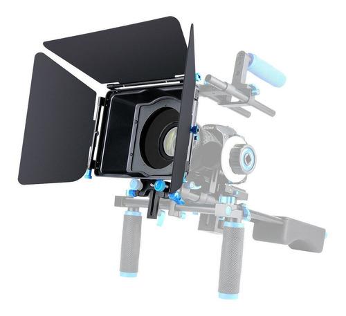 Imagem 1 de 12 de Parasol Matte Box M4 Aluminio Para Dslr E Trilho 15mm