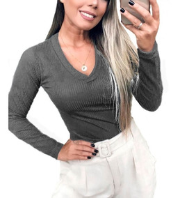 Blazer Casaco Suéter Feminino Casaquinho Lã Social Inverno