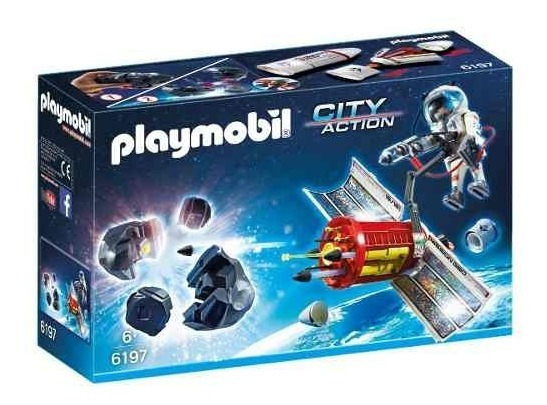 Satellite Laser Meteorito Astronauta Playmobil Juguete Niño