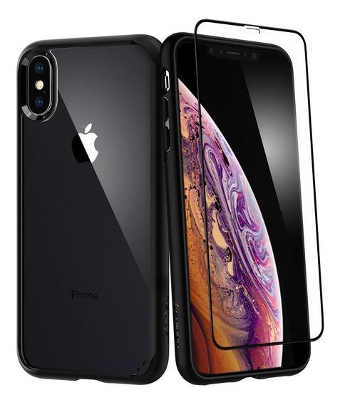 Estuche Forro Original Spigen Ultra Hybrid 360 iPhone Xs X