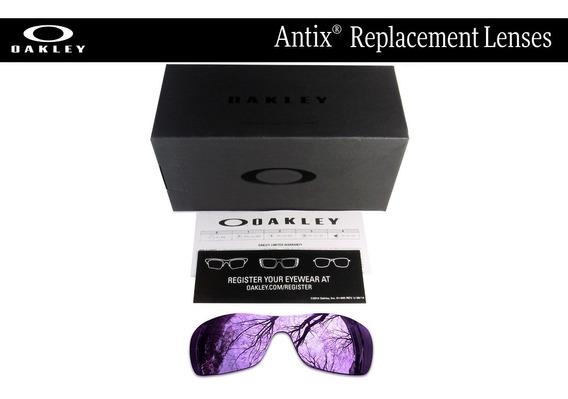 Mica De Reemplazo Para Oakley Antix Color Dark Violet
