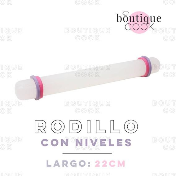 Rodillo Con Niveles Palo De Amasar Antiadherente Repostería Masa Fondant Porcelana Boutique Cook Vte. López / Pilar