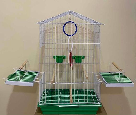 Gaiola Para Calopsita, Maritaca Pássaros Pintura Epóxi + Brinde Argolas