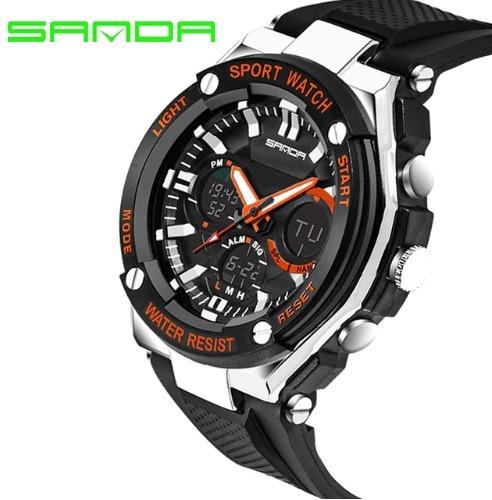 Relógio De Pulso Sanda 733 Original Importado Cores Diversas