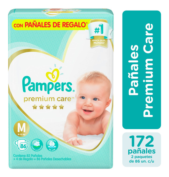 Pañales Pampers Premium Care Pack X2