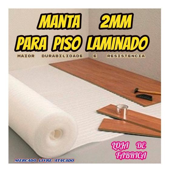 Manta 2mm P/piso Laminado Direto Da Fabrica Kit C/50 Mts² ..