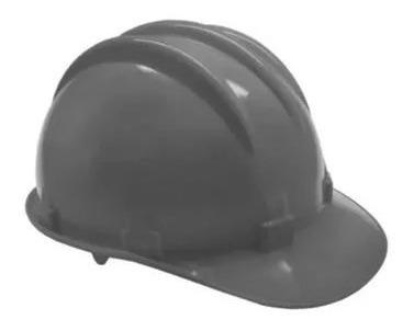 Capacete Cinza Segurança Proteção Obra Com Carneira Epi