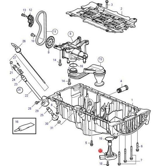 31272687 Sensor Nível Do Óleo D3 Volvo Penta