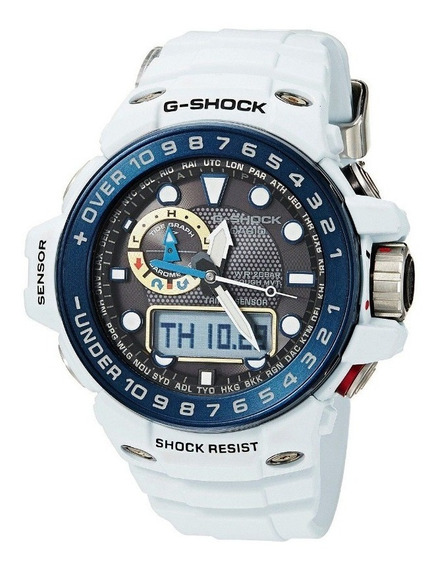 Relógio Casio G-shock Gulfmaster Branco Gwn-1000e-8a