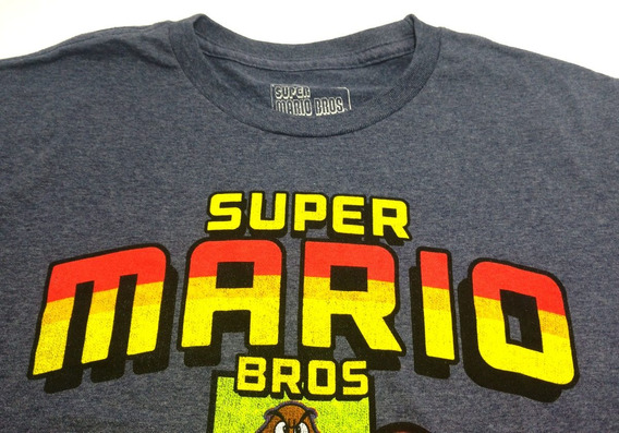 Camisa Masculina Personagens Super Mario Bros