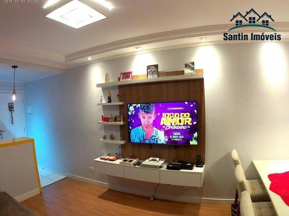 Cobertura Com 2 Dormitórios,02 Vagas De Garagem À Venda, 103 M² Por R$ 330.000 - Jardim Santo Antônio - Santo André/sp - Co0341