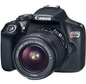 Câmera Canon Eos Rebel T6 Dslr Com Lente 18-55mm 18mp