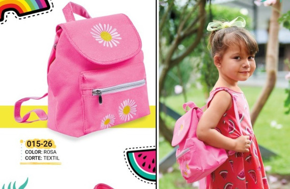 Bolsa Back Pack Para Niña Rosa 015-26 Cklass Kids 1-20 J