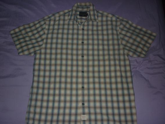E Camisa Nautica Jeans Company Talle L Cuadros Art 37418
