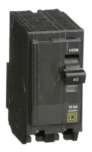 Imagen 1 de 8 de Pastilla Interruptor Termomagnético Qo240 2 Polo 40a 120/240