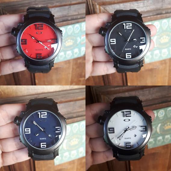 Relógio Masculino Esportivo Oakley Aço Pulseira Borracha