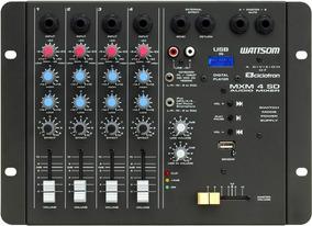 Mxm4sd - Mesa De Som / Mixer 4 Canais Usb Mxm 4 Sd Ciclotron