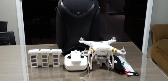 Dji Phantom 3 Professional 4k C/ 3 Baterias + Bag Originais