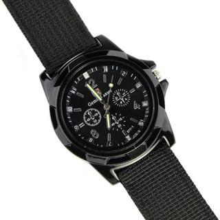 Reloj Pulsera Gemius Army Militar Tela Militar Negro