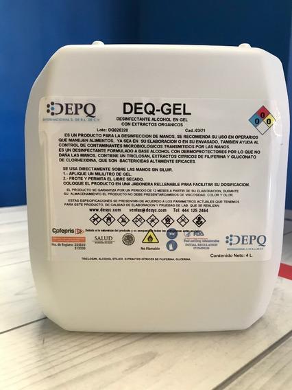 Gel Antibacterial Desinfectante Para Manos 4lt