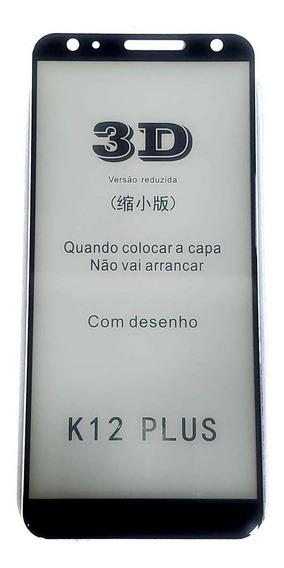 Película De Vidro Temperado 3d Curvada LG K12 Plus