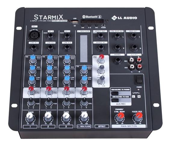 Mesa Som Starmix Bluetooth C/ Efeito 12.5w 4 Canais Ll Áudio